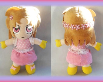 Custom plushie original design doll pink and yellow