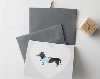 Custom Watercolor Dog Note Cards