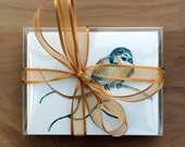 Boxed Notecard Set, Watercolor Notecards, Bird cards, gift for grandma, bird stationery, gift for friend