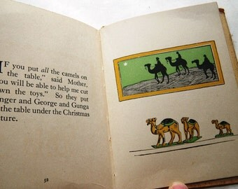 1920s Three Camels A Story of India Book - Christmas Childrens Cross-Cultural Book