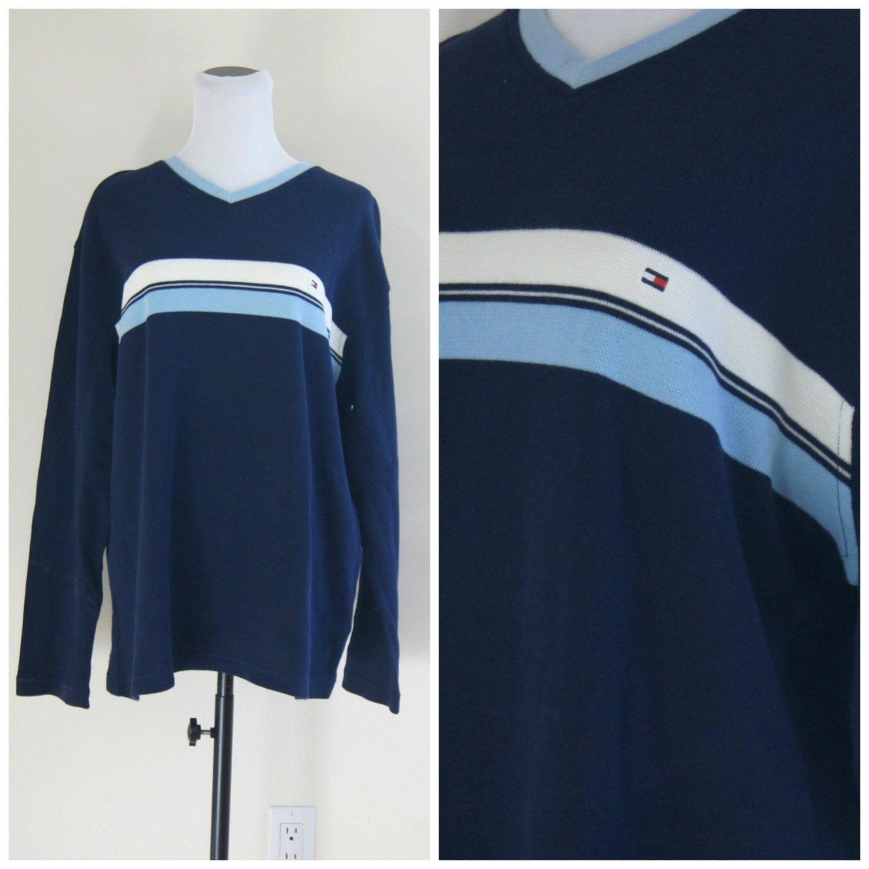90s tommy hilfiger stripe shirt medium large by. Black Bedroom Furniture Sets. Home Design Ideas