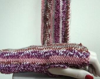 Texting Mitts Fingerless Hand Knit Alchemy Merino Wool Arm Warmers  - Size Medium
