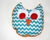 Owie Owl Rice Pack-Orange and Aqua