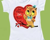 Valentine Owl, Girls  Valentine TShirt, Baby Girls clothes,  Tank Top One Piece Baby, by ChiTownBoutique.etsy