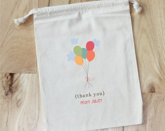 BALLOON PARTY -Personalized Favor Bags - Set of 10 - BIRTHDAY - Baby Shower - Bridal Shower