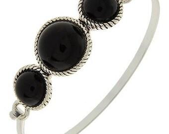 Black Cuff Bracelet - Black Bangle Bracelet - Southwest Style Bracelet - Minimalist