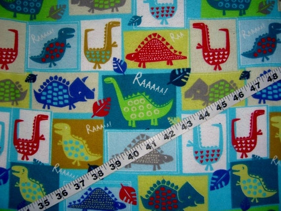 Items similar to kids flannel fabric with dinosaur dino for Kids dinosaur fabric