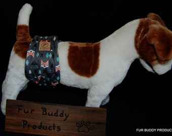 """Mr Fox.....Waterproof Original """"NO-Pee""""   BuddyBand Diaper with Pul and Zorb..All Sizes"""