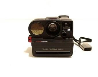 vintage 80s very RARE black pronto Sx-70 POLAROID camera with SONAR
