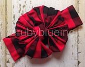 Buffalo Plaid - Lumberjack Messy Bow Head Wrap