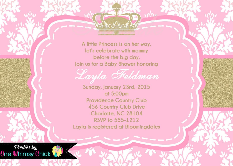 Princess Baby Shower Invitation Wording was best invitations ideas