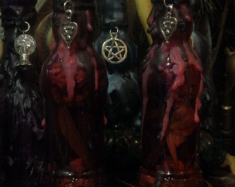 Love Witches Bottle Wicca Pagan Spirituality Religion Ceremonies Hoodoo Metaphysical MaidenMotherCrone