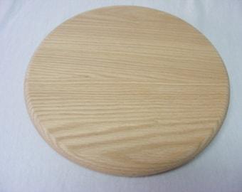 16 Inch Unfinished Oak Wood Lazy Susan.  Free Shipping