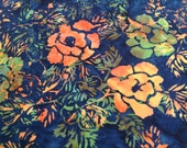 Glorious Garden Batik Gypsy Wrap, size M  - yoga headband, hair wrap, dread wrap, pre tied bandana