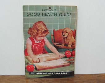 Vintage Rawleigh's Health Guide 1957 Almanac Cookbook Booklet Great Graphics
