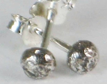 Silver Ball Earrings Studs Post Solid Sterling Silver Ready to Ship