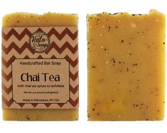 Chai Tea Soap - Essential Oil Bar Soap with Organic Fair Trade Tea