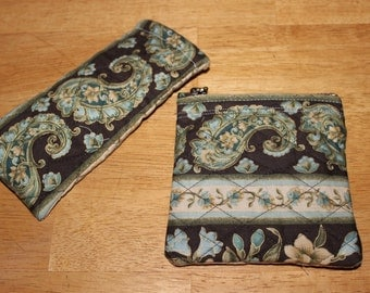 Quilted Change Purse and Eyeglass Case