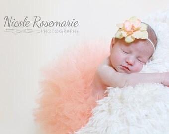 Peach Baby Tutu, Peach Tutu Skirt, Newborn Tutu Set, Infant Tutu, 1st Birthday Outfit, Cake Smash Tutu, Girls Tutu & Headband, Photo Prop