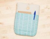 ipad mini sleeve / ipad mini case / ipad mini cover - lines with pockets -