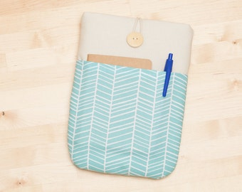 ipad mini sleeve / ipad mini case / ipad mini cover - lines with pockets -