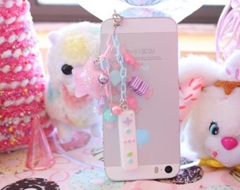 SALE Fairy Kei Game Controller Wii Headphone Jack  Phone Charm made to ORDER WAS 14.00