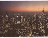 Manhattan Skyline NYC - New York Postcard Souvenir