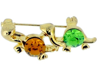 GreenTurtle Swarovski Crystal Brooch Pin 1010772