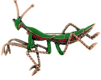 Green Praying Mantis Pin Brooch 1001921