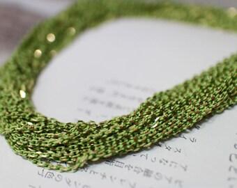 The shiny yellowgreen chain(2mm)