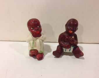 Vintage Kids Salt and Pepper Shakers