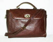 Distressed Brown Leather Purse Cross-body bag - Sima