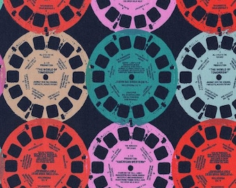 Viewfinders in navy from the Playful collection 1/2 yard fabric by Melody Miller cotton and steel