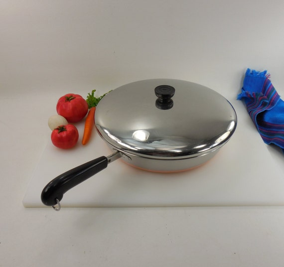 Revere Ware Large 12 Skillet Fry Pan Chicken By Oldetymestore