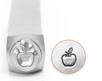 Apple Metal Design Stamp ImpressArt- 6mm Design Stamp-Steel Stamps-NEW!