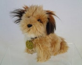 CLEARANCE HALF OFF Mini Benji Small Plush Toy 80s Puppy Dog with collar and Tag By Dakin