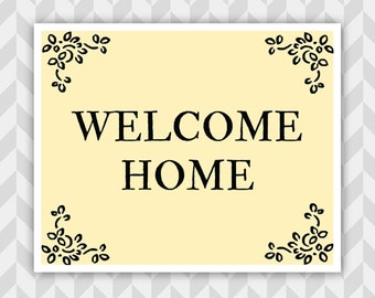 Versatile image inside printable welcome home signs
