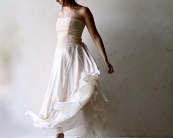 Wedding Dress, Bridal gown, Lace wedding dress, Alternative wedding dress, fairy wedding dress, bridal separates, boho wedding dress