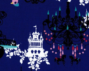 2015 Kayo Horaguchi - Castle  - Dog Carriage Chandelier Watch Fairy tale in Blue cotton Linen - 50cm -