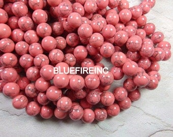 32 pcs 12mm round smooth dyed howlite beads