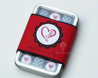 Valentine's day gift idea, teacher gift, friend gift, chocolate candy gift, nugget tin candy