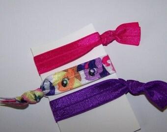 Little Pony Party Favors / Little Pony Hair Ties - Elastic Hair Ties - Elastic Bracelets