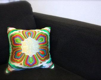 Obi / Kimono / Pillow / GR666 Psychedelic Flower Embroidery Obi Pillow