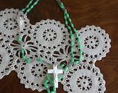 Vintage Green Rosary