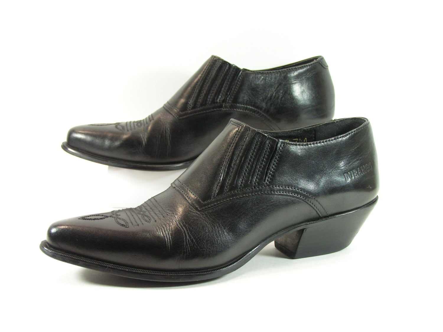 Brown Leather Point Shoes Womens
