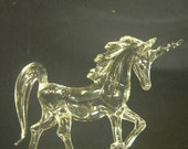 Prancing Glass Unicorn