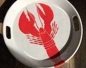 "Lobster ceramic handled serving tray.14"""
