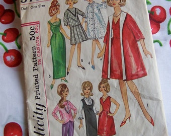 simplicity tressy doll wardrobe pattern