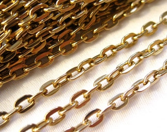 10ft Old Gold Chain Aluminum 3x5mm Link Chain Findings Jewelry Design ac087