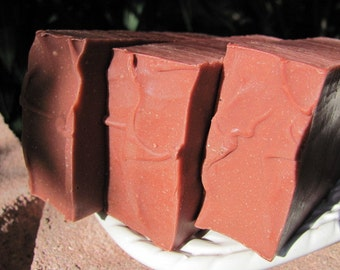 RED CLAY Soap. Soap Natural. Soap Organic. Soap Vegan. Handmade Soap. Cold Process.